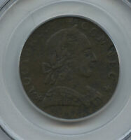 1788 Connecticut Mailed Bust Right PCGS F 15 Perfect Colonial Type Miller 2-D