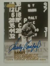 2016 Topps Stadium Club SANDY KOUFAX #06/25 GOLD On-Card AUTO Autograph #SCA-SK