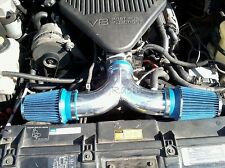 Dual Twin Air Intake Kit +BLUE FILTER 94-96 Chevy Impala SS Caprice 4.3L/5.7L V8