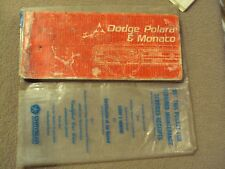 2 - 1967 Dodge Polara, Monaco Owners Manual, and packet &  manual with no cover