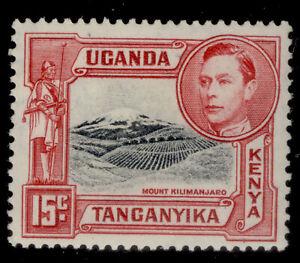 KENYA UGANDA TANGANYIKA  SG137a, 15c black and rose-red, M MINT.