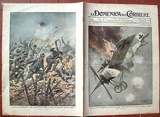 5) 1916 GUERRA AEREA SU SUSEGANA PRIMA GUERRA MONDIALE. DOMENICA DEL CORRIERE