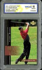 New listing 2001 Upper Deck Golf Tiger Woods RC Rookie Tour Time WCG 10 Gem Mint #176