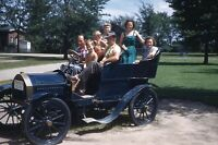 Vintage 35mm Slide Early 1950s Greenfield Village Michigan Automobile Tourists