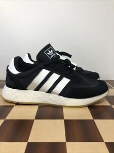 Adidas Iniki I-5923 Boost Black/White/Gum D97344 Mens Casual Athletic Shoe New