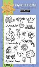 HERO ARTS Clear Stamps BABY GIRL # MX265 LITTLE PRINCESS CUTE AS A BUG ADORABLE