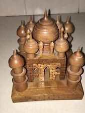 Vintage Wooden Wood Treen Carved Model Taj Mahal Ornament
