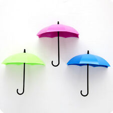 3pcs/set Cute Umbrella Wall Mount Key  Wall Hook Hanger Organizer Holder Durable