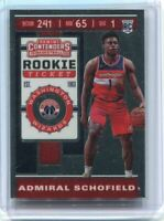 2019-20 Contenders RC Ticket Premium Edition ADMIRAL SCHOFIELD - Wizards Chrome