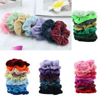 100 Pack Hair Scrunchies Velvet Scrunchy Bobbles Elastic Hair Bands Holder Lot