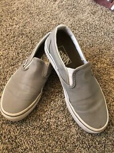 Vans Classic Slip-On Skate Shoes Men's Size 5 Women's 6.5 Charcoal Gray