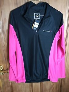 Muddy Fox Pink And Black Cycling Top Size 12 M New & Tagged