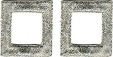Lot 2 Silver Metallic embroidered Square Patch