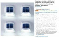 Solar Lights Outdoor, 8 LED Wireless Waterproof Security Sensor Light for Garden