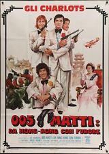 Les CHARLOTS BONS BAISERS DE HONG KONG Italian 2F movie poster 39x55 1975 CASARO