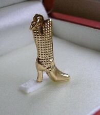 Genuine 9ct gold Boot Charm STUNNING, FREE POSTAGE IF YOU BUY TODAY!! ref 005