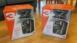 JBL LSR305 Studio Monitors pair -black boxed