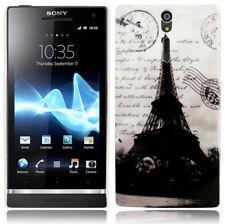 Hardcase funda protectora para Sony Xperia S lt26i torre eiffel negro blanco