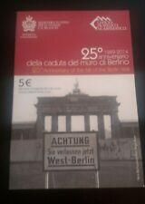 "San Marino 5 Euro silver coin 2014 ""25th ann. fall of Berlin wall"" in blister"
