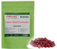 FORUN Organic Dried Cranberries 100G,400G,1KG - Free Fast Ship by AU POST