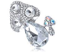 Shiny Cute Mushroom Set Gem Alloy Crystal Rhinestone Costume Pin Brooch Jewelry