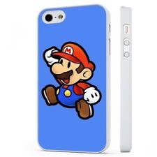 Retro Super Mario Nintendo Juego Funda De Teléfono Blanco encaja iPHONE