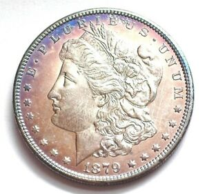 1879-S MORGAN SILVER DOLLAR NEAR GEM UNCIRCULATED PL REV. OF 1878 NICE RARE!