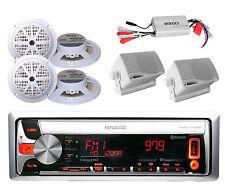 New Marine AM/FM CD USB MP3 Pandora Bluetooth Radio Player 6 Speakers + 800W Amp