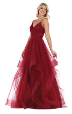 FORMAL RED CARPET EVENING DRESSES SPECIAL OCCASION ORGANZA DESIGNER PAGEANT GOWN