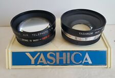 Yashica Yashikor Aux Telephoto Y511 & Wide Angle Y704 Lenses-Excellent Condition