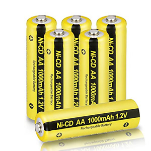 AA Rechargeable Battery 1.2V NICD 1000mAH for Garden Landscaping Solar Lights