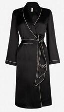 Agent Provocateur S black silk robe black dressing gown ladies box