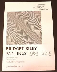 BRIDGET RILEY  Paintings 1963-2015     2017 ART EXHIBITION POSTER