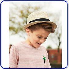 Kids Festival Trilby Boys Girls Beach Summer Hat Holiday Straw Dance Hat