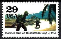 USA postfrisch MNH Marines Soldat Landungsboot Strand Salomonen Weltkrieg / 44