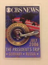 2006 President George W. Bush CBS NEWS Press Pass Trip to Germany & Russia