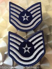 VINTAGE USAF UNITED STATES AIR FORCE PATCH SGT STRIPES MOD QUADROPHENIA