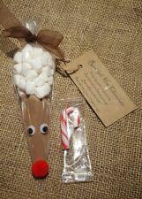 La víspera de Navidad Caja Reno Chocolate Caliente Medias Relleno Santa Secreto De Cono