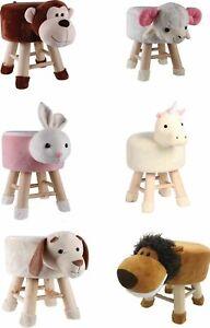 Kids Novelty Animal Shaped Footstool Foot Stool Round Home Furniture Nursery