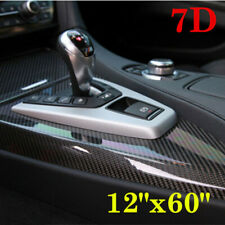 7D Glossy Carbon Fiber Vinyl Film Car Interior Wrap Stickers Auto Bubble-Free
