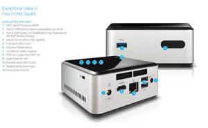Intel NUC Mini PC DN2820FYK Intel N2830 @ 2.16GHz 160GB 7200rpm HDD  8GB DDR3 Wi