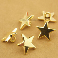 30pcs Gold Star Metal Shank Button Sewing Craft Coat Embellishment Shirt 11mm