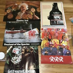 RARE Lot Of Vintage 70s 80s Rainier Beer Spoof Ad Posters