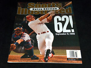 September 8 1998 Sports Illustrated Magazine Mark McGwire 62 Home Run HR Cover