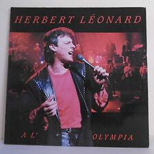 "2 x 33T Herbert LEONARD Disques LP 12"" A L'OLYMPIA 1988 - WEA 244662-1 RARE"