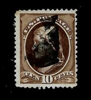 US  1881 Sc# 209  10 c JEFFERSON  USED - Centered - Crisp Copy
