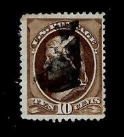 US  1881 Sc# 209  10 c JEFFERSON  USED - Centered - Crisp Copy