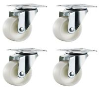 4x 25mm Nylon Castors Casters - Swivel - Small Mini Wheels Furniture -Max 50Kg