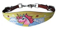 Showman PONY Leather Wither Strap w/ PINK Unicorn/Cloud Design! NEW HORSE TACK!!