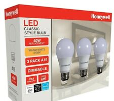 Honeywell LED A19 40W dimmable 450 lumens 2700K warm white light bulbs